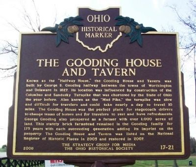 The Gooding House and Tavern Marker (side A) image. Click for full size.