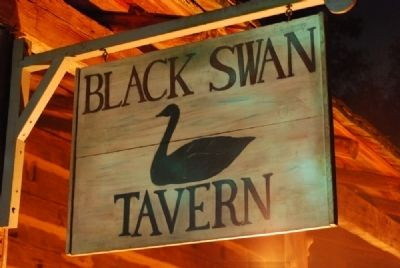 Black Swan Tavern Sign -<br>2008 Ninety Six Battlefield Candle Light Tour image. Click for full size.