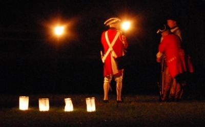 Reenactors Between Performances -<br>2008 Ninety Six Battlefield Candle Light Tour image. Click for full size.