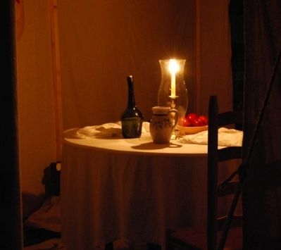 Inside an Officer&#39;s Tent -<br>2008 Ninety Six Battlefield Candle Light Tour image. Click for full size.