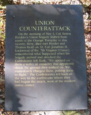 Union Counterattack Marker image. Click for full size.