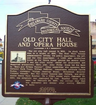 Old City Hall and Opera House Marker image. Click for full size.