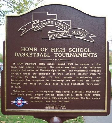 Home of High School Basketball Tournaments Marker (side B) image. Click for full size.