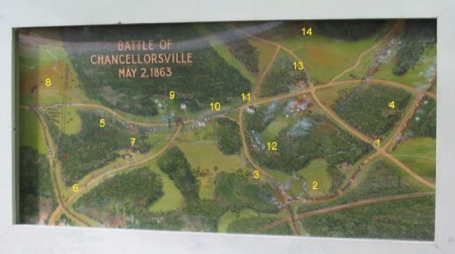 Chancellorsville Painting / Map image. Click for full size.