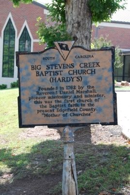 Big Stevens Creek Baptist Church (Hardy's) Marker image. Click for full size.