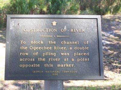 Obstruction of River Marker Photo, Click for full size