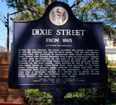 Dixie Street Marker image. Click for full size.