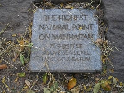 Highest Point on Manhattan Marker image. Click for full size.