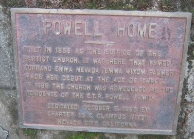 Powell Home Marker Photo, Click for full size