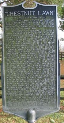"""Chestnut Lawn"" Marker Photo, Click for full size"