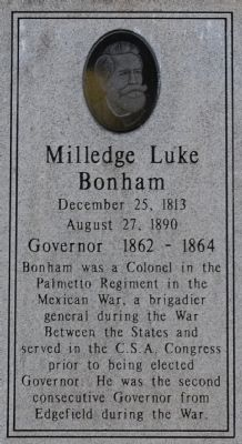Milledge Luke Bonham Marker Photo, Click for full size