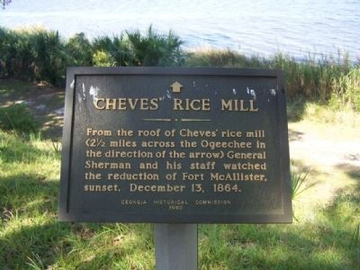 Cheves' Rice Mill Marker image. Click for full size.