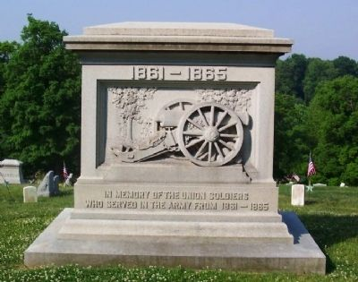 Civil War Union Soldiers Memorial image. Click for full size.
