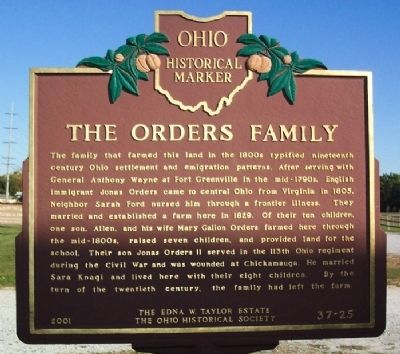 The Orders Family Marker (side B) image. Click for full size.