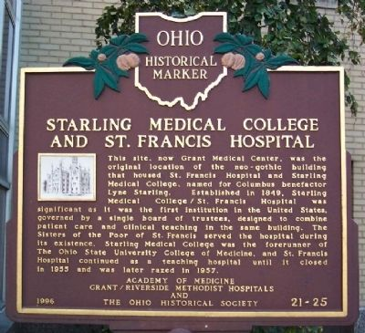 Starling Medical College and St. Francis Hospital Marker image. Click for full size.