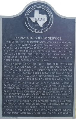 Early Oil Tanker Service Marker image. Click for full size.