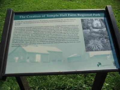 The Creation of Temple Hall Farm Regional Park Marker image. Click for full size.