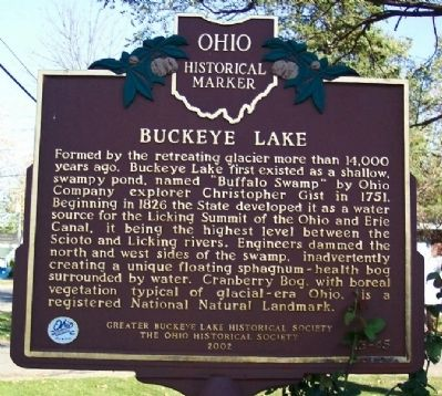 Buckeye Lake Marker (side A) image. Click for full size.