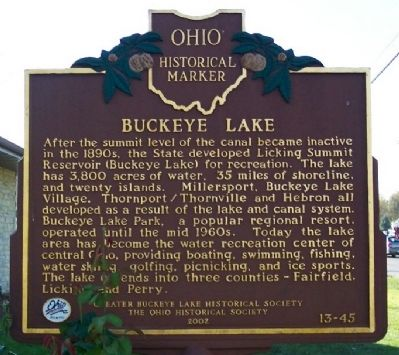 Buckeye Lake Marker (side B) image. Click for full size.