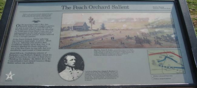 The Peach Orchard Salient Marker image. Click for full size.
