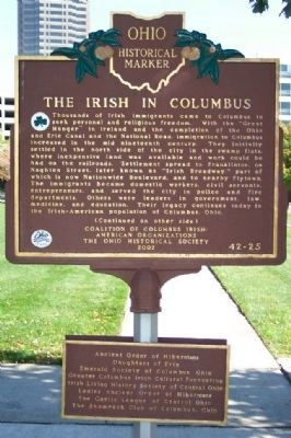 The Irish in Columbus Marker </b>(front) image. Click for full size.