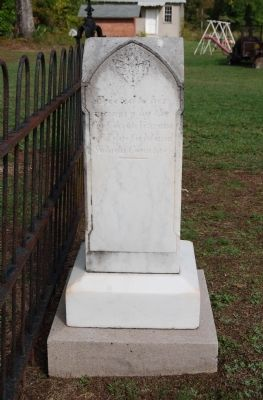 Lucinda Horn Tombstone - South Side image. Click for full size.