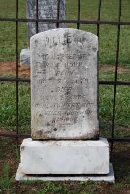 Willie Horn Tombstone image. Click for full size.
