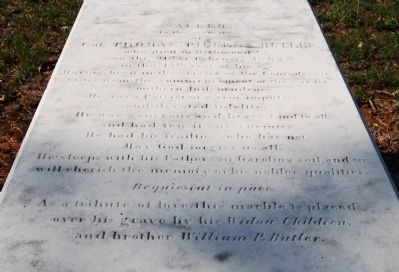Col. Thomas Pickens Butler Tombstone image. Click for full size.