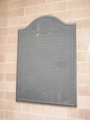First Constitution of the Province of New Jersey Marker image. Click for full size.