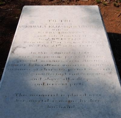 Emmala Elizabeth Thompson Tombstone image. Click for full size.