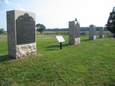 Tablets at the Northwest Corner of the Peach Orchard image. Click for full size.
