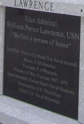 Vice Admiral William Porter Lawrence, USN Marker - Panel 1 image. Click for full size.