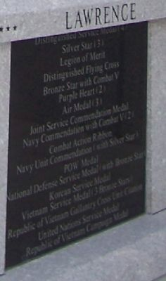 Vice Admiral William Porter Lawrence, USN Marker - Panel 2 image. Click for full size.