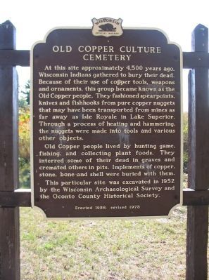 Old Copper Culture Cemetery Marker image. Click for full size.
