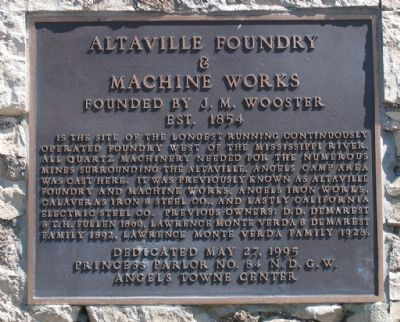 Altaville Foundry & Machine Works Marker image. Click for full size.