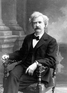 Mark Twain image. Click for more information.