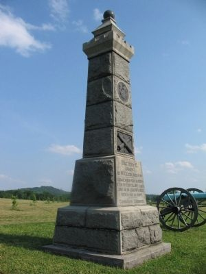Battery G, 1st N.Y. Light Artillery Monument image. Click for full size.