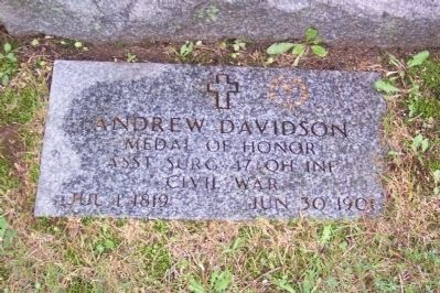 Andrew Davidson Military Grave Marker image. Click for full size.