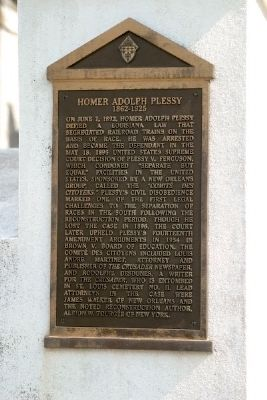 Homer Adolph Plessy Marker Photo, Click for full size