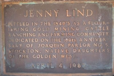 Jenny Lind Marker image. Click for full size.