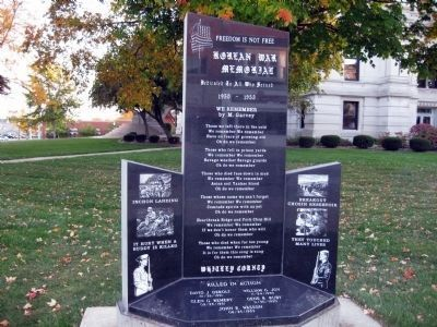 Whitley County Korean War Memorial Marker image. Click for full size.