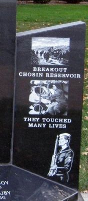 Right Wing - - Whitley County Korean War Memorial Marker image. Click for full size.