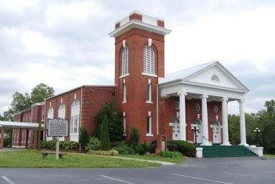 Red Bank Baptist Church and Marker Photo, Click for full size