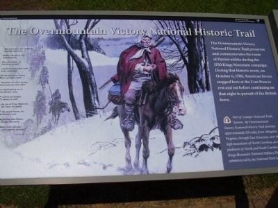 The Overmountain Victory National Historic Trail Marker image. Click for full size.