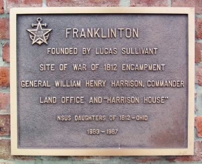 Franklinton National Society US Daughters of 1812 Marker image. Click for full size.