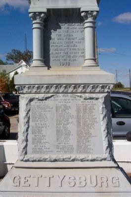 Jerome Township Civil War Memorial East Face image. Click for full size.