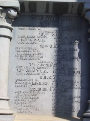 Jerome Township Civil War Memorial West Face image. Click for full size.