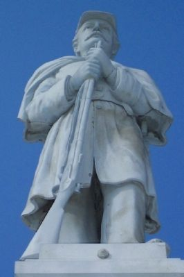 Jerome Township Civil War Memorial Statue image. Click for full size.