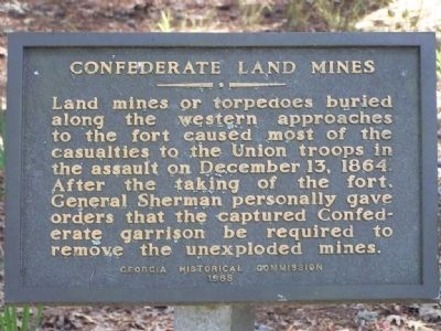 Confederate Land Mines Marker image. Click for full size.