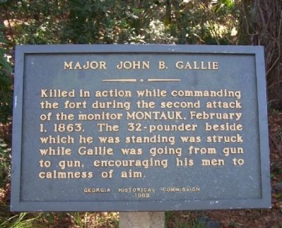 Major John B. Gallie Marker image. Click for full size.